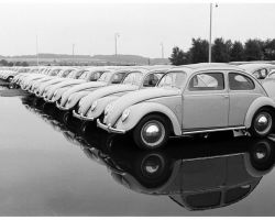 volkswagen photo By walter sanders For life 1951